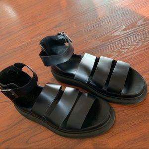 Dr Marten's Clarissa Platform Sandal in Black